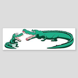 Alligator Family Bumper Sticker