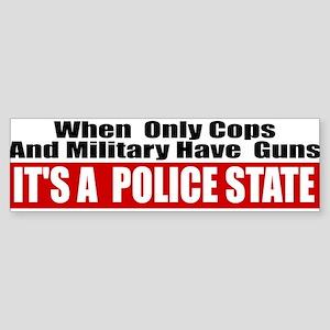 Police State Sticker (Bumper)