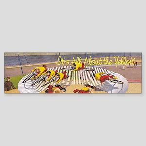 Cycling Yellow Jersey Sticker (Bumper)