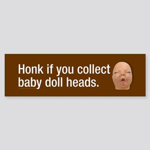 Collect baby doll heads Sticker (Bumper)