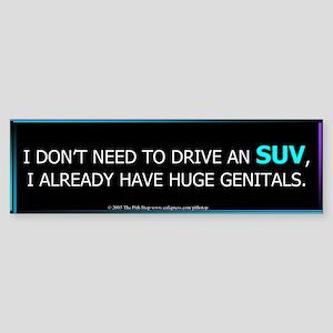 No SUV Bumper Sticker