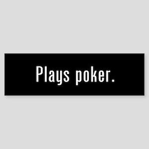 Poker Player Black Bumper Sticker