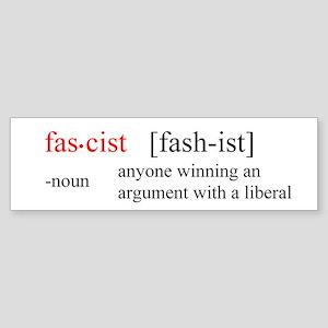 Fascist definition Bumper Sticker