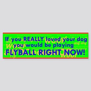 Flyball Guilt Trip Sticker (Bumper)