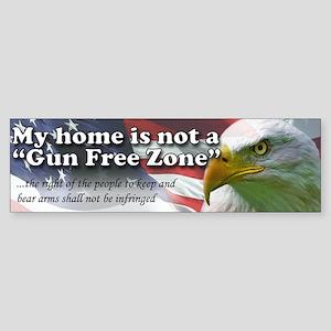 Gun Free Zone Bumper Sticker