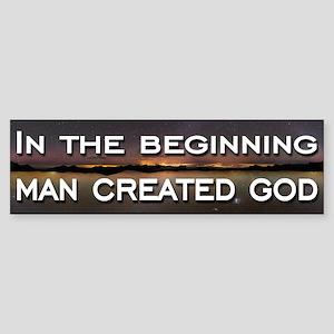 Man created god Sticker (Bumper)