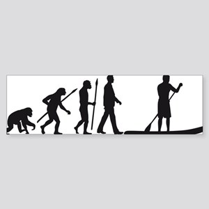 Evolution Stand Up Paddling Bumper Sticker