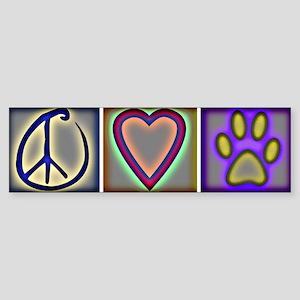Peace Love Dogs (ALT) - Bumper Sticker