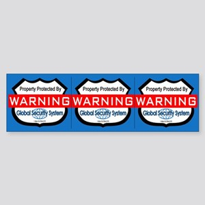 Security Decals - 3 Stickers (3/Sheet, 1 Sheet)