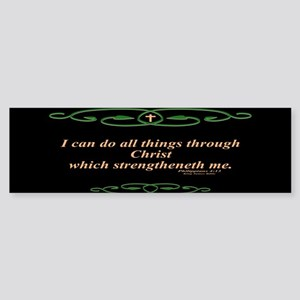 Philippians 4 13 Cross Bumper Sticker