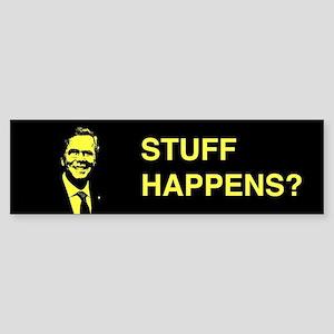 Jeb Bush: Stuff Happens? Bumper Sticker