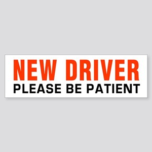 New Driver Be Patient inRed Bumper Sticker