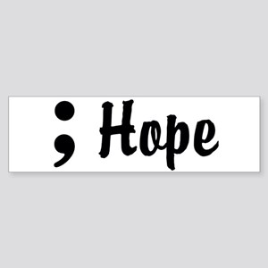 Hope Semicolon Sticker (Bumper)