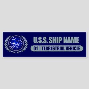 Star Trek Ship Personalized Bumper Sticker