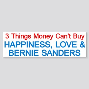 Happiness, Love And Bernie Bumper Sticker