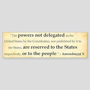 The Tenth Amendment Bumper Sticker