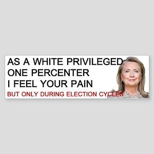 Hillary One Percenter Bumper Sticker