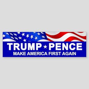 Trump Pence America First Bumper Sticker