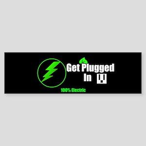 Get Plugged In (bumper) Bumper Sticker