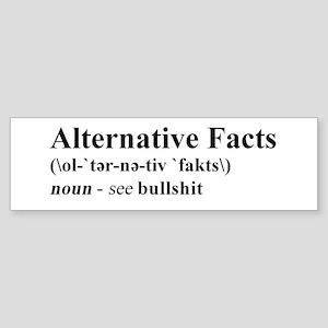 Alternative Facts - Black on White Bumper Sticker