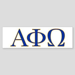 alpha phi omega letters Sticker (Bumper)