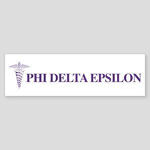 Phi Delta Epsilon Logo Sticker (Bumper)