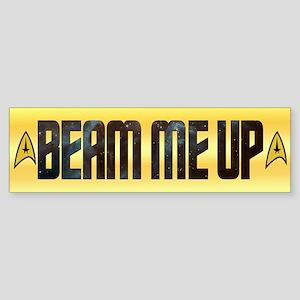 Beam Me Up Bumper Sticker