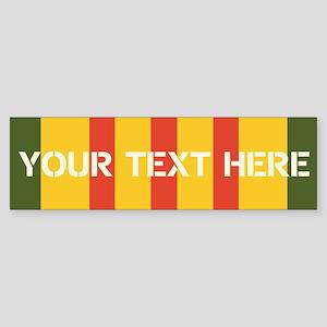 Personalize Vietnam Ribbon Bumper Sticker