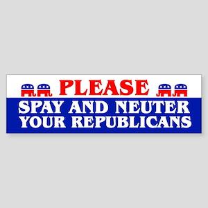 SPAY AND NEUTER Bumper Sticker