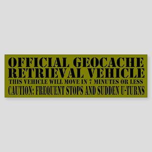 Official Geocache Reteieval Bumper Sticker