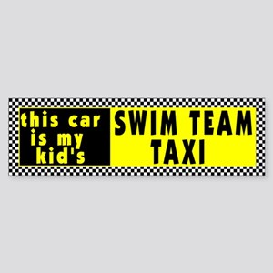 Swim Team Bumper Sticker