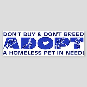 Blue Adopt Bumper Sticker