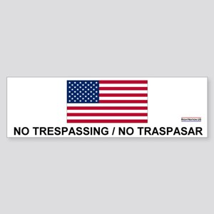 No Trespassing/No Traspasar Bumper Sticker