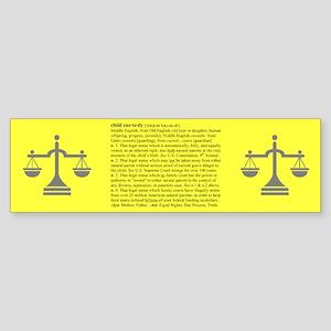 Custody Defined Black Bumper Sticker