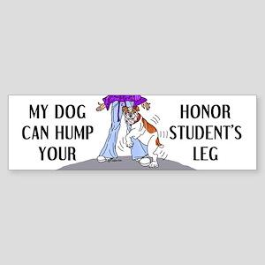 Bulldog Honor Student Bumper Sticker