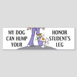 Whippet Honor Student Bumper Sticker