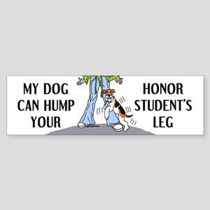 Wire Fox Terrier Honor Student Bumper Sticker