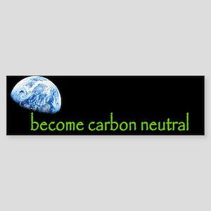 become carbon neutral Bumper Sticker