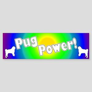 Pug Power Bumper Sticker