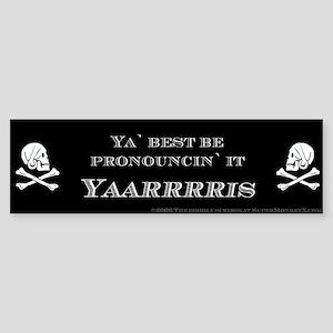 Yaris Pirate Bumper Sticker
