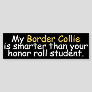 Honor Roll Border Collie Bumper Sticker