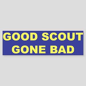 Good Scout Gone Bad (Blue) Bumper Sticker