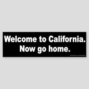 Welcome to California Sticker (Bumper)