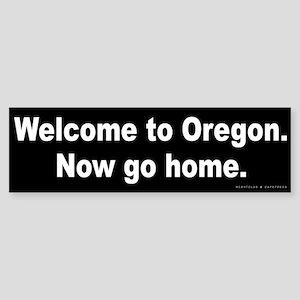 Welcome/Oregon Sticker (Bumper)