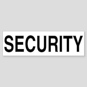 SECURITY Bumper Sticker