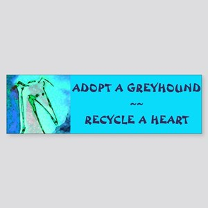 Recycle a Heart Bumper Sticker