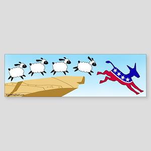 Follow the Liberal Bumper Sticker
