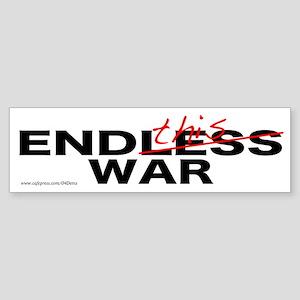 """End This War"" Bumper Sticker"