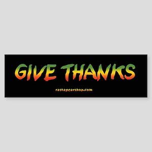 Rasta Give Thanks Bumper Sticker