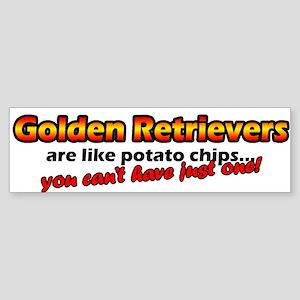 Potato Chips Golden Retriever Bumper Sticker